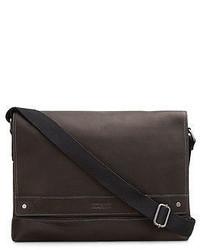 Kenneth Cole Leather Messenger Bag