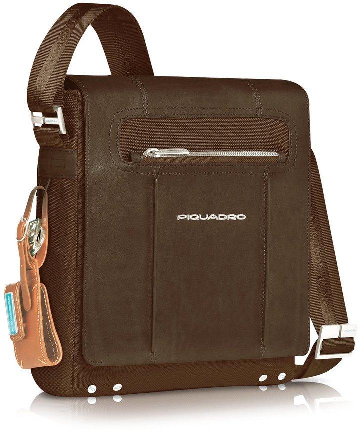 Piquadro Link Vertical Messenger Bag