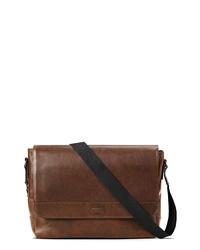 Shinola Navigator Leather Messenger Bag