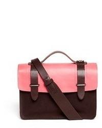 Seventy Eight Percent Zazie Leather Canvas Mini Satchel