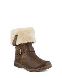 Spring Step Peeta Water Resistant Faux Fur Boot