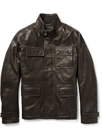 Leather field jacket medium 355359