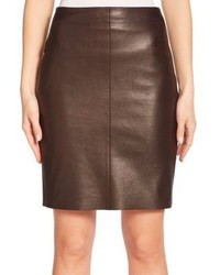 Akris Nappa Leather Pencil Skirt