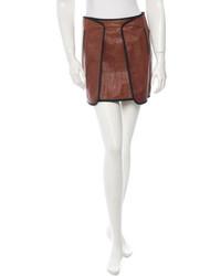 Veronica Beard Leather Skirt