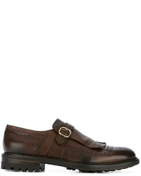 Doucal's Fringed Monk Shoes