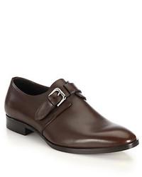 Ralph Lauren Grishman Leather Monk Strap Dress Shoes