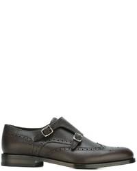 Salvatore Ferragamo Giovanni Fondente Monk Shoes