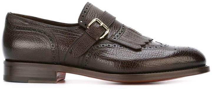 santoniFringed monk shoes iZZecT