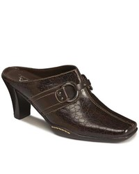 A2 by Aerosoles A2 By Rosoles Snapezoid Dark Brown Textured Mules