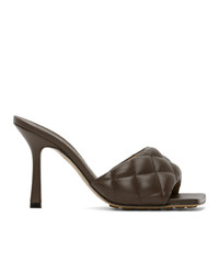 Bottega Veneta Brown Padded Heeled Sandals