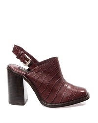 Opening Ceremony Embossed Leather Mules