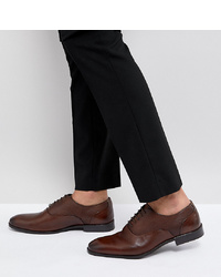 ASOS DESIGN Asos Wide Fit Oxford Shoes In Brown Leather With