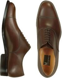 Londra dark brown calfskin cap toe oxford shoes medium 325801