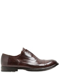 Officine Creative Laceless Brushed Leather Oxford Shoes