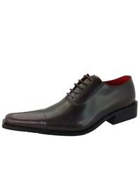 Zota Dark Brown Oxford Lace Up Leather Fashion Shoes