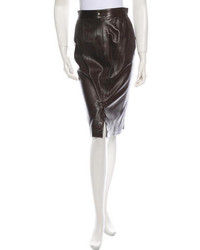 Alaa leather skirt medium 216337