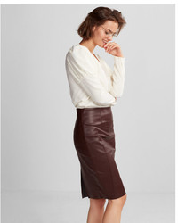 High waisted leather pencil skirt medium 5219390