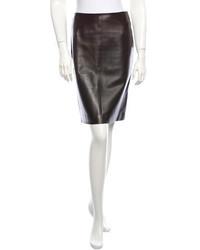 Leather pencil skirt medium 216338