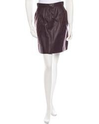 Fendi Leather Skirt