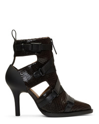 Chloé Burgundy Tracy Croc Heels