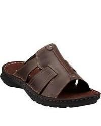 Clarks Swing Around Brown Leather Sandals