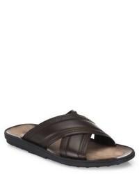 Tod's Crisscross Leather Slides