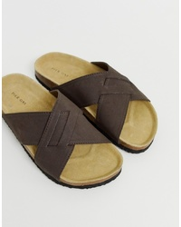 Pier One Cross Over Sandals In Brown
