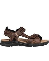 Dockers Solano Dark Brown Pull Up Leather Sandals