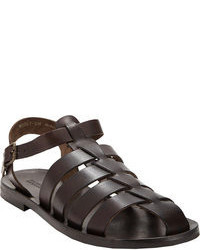 Barneys New York Leather Fisherman Sandals Brown Size 12