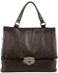 Dark Brown Leather Satchel Bag | Women's Fashion