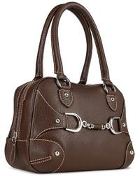 Buti Dark Brown Italian Pebble Calf Leather Satchel Bag