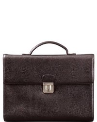 Dr. Koffer Dale Compact Briefcase Black Leather Goods