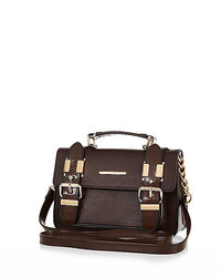 River Island Dark Brown Mini Satchel