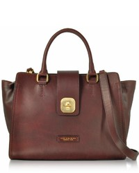 The Bridge Large Leather Top Handle Satchel Bag