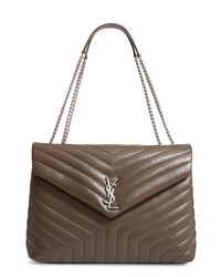 Saint Laurent Large Loulou Matelasse Leather Shoulder Bag