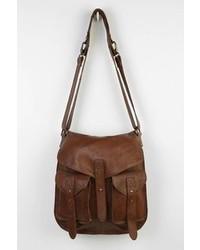 BDG Leather Tab Strap Messenger Bag