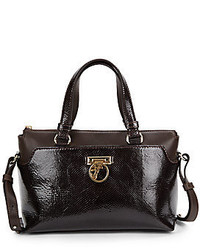 Versace Matte Patent Leather Satchel