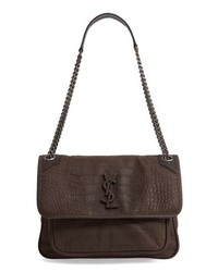 Medium niki croc embossed shoulder bag medium 8728991
