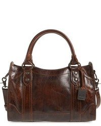 Melissa washed leather satchel grey medium 863046