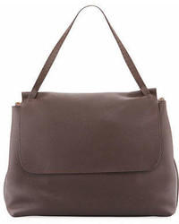 The Row Top Handle 14 Leather Flap Top Shoulder Bag