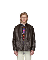 Sunnei Brown Over Padded Shirt Jacket