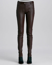 T by Alexander Wang Stretch Leather Skinny Jeans