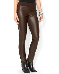 Lauren Ralph Lauren Faux Leather Skinny Pants