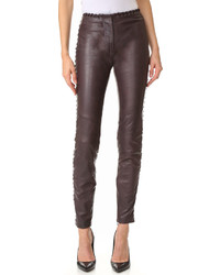 Lace trim leather pants medium 774680