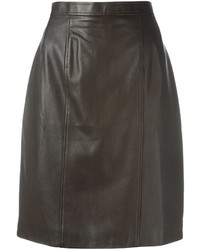 Chanel Vintage Leather Skirt