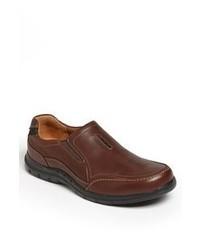Clarks Unventon Slip On Brown Leather 12 M