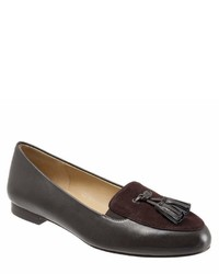Caroline leather and suede tassel loafers medium 6990416
