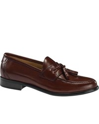 Dockers Lyon Mahogany Polished Full Grain Leather Tassel Loafers