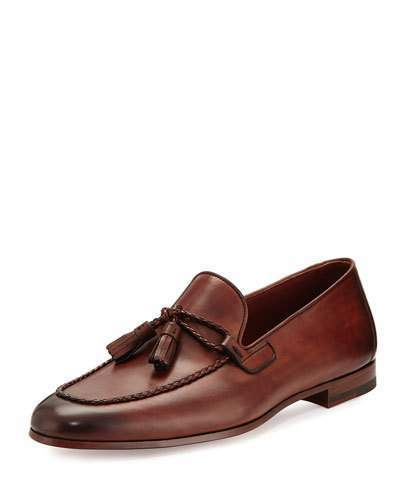7a9b5d45c65231 ... Magnanni For Neiman Marcus Leather Loafer With Woven Tassels Medium  Brown ...