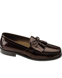 Johnston & Murphy Aragon Ii Burgundy Brushed Veal Tassel Loafers